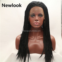 Newlook P0010 black lace front wigs black cornrows Africa style wig
