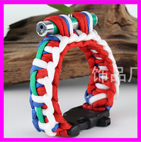 KDA795 Latest 2016 fashion survival paracord bracelet with led