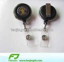 rotatable badge reel with swivel clip
