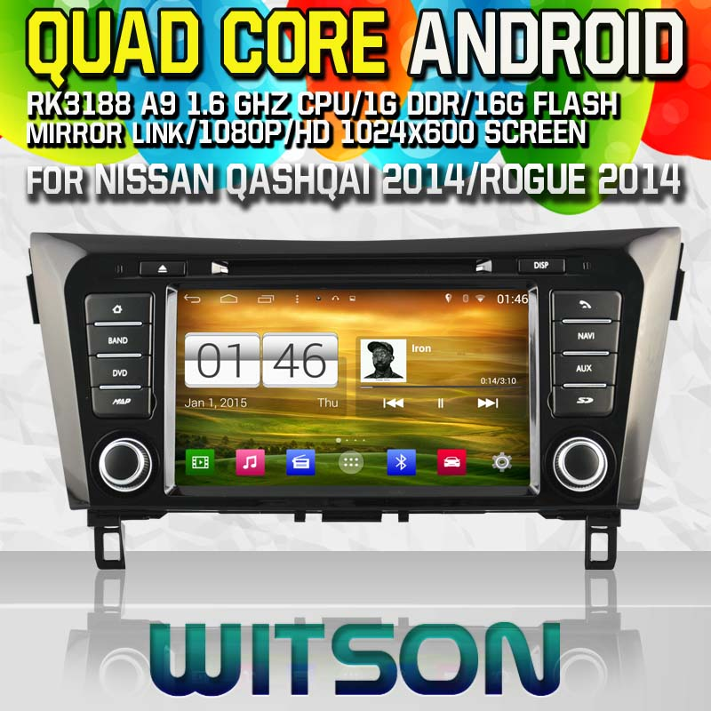 Witson S160 Android 4.4 Car DVD GPS For NISSAN QASHQAI X-TRAIL ROGUE 2014 with Quad Core Rockchip 3188 1080P 16g ROM WiFi 3G