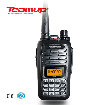Hot sale Teamup T550 5watts walkie talkie VHF /UHF single band walkie talkie