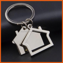 Fashion house shaped keychain/cheap key chain/custom key chain