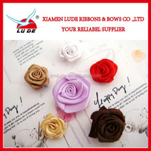 2015 wholesale mini ribbon rose flowers for garments