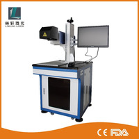 Wuhan Linxuan cheap price plastic button rf co2 laser printing machine for sale