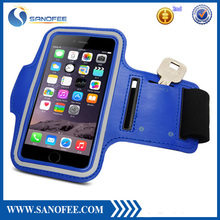 Hot Seller Sport Neoprene Armband For Iphone 6/6 plus /Reflective Running Arm Band With Key Holder /For Smartphone Armbands