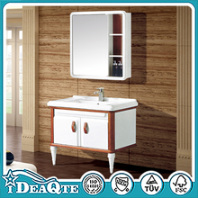 Cutomerization Waterproof PVC Cabinet Modern Designs Top Quality Hotel Motel Mirrored Cheap PVC Wash Bathroom Vanity Furniture