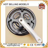 best Selling high quality mtb bicycle crankset three piece alloy bicycle freewheel crank