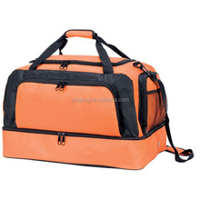 Two compartments expandable travel luggage bag