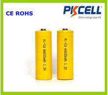 PKCELL 1.2V AA Size 600mAh Nicd Rechargeable Battery with cheap price
