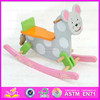 Best customized intelligence wooden rocking horse toy for toddlers WJY-8001