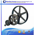 multiple-groove cast iron pulley with solid hub for motors