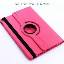 360 Degree Rotation Flip Litchi Pattern Leather Stand Case For iPad Pro 10.5 2017