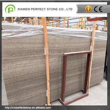 Xiamen new gray & coffee wood serpeggiante marble for kitchen cabinet