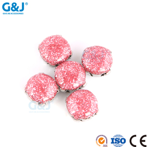 guojie brand Factory Directory production synthetic diamond red round Shape rhinestone For Women Wear Crystal Stone