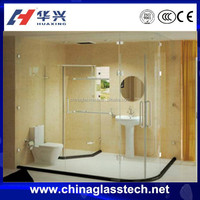 Cheap Waterproof Unbreakable Frameless Tempered Glass Sliding Shower Door