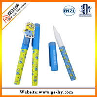 2014 new designed cute pen with cartoon head
