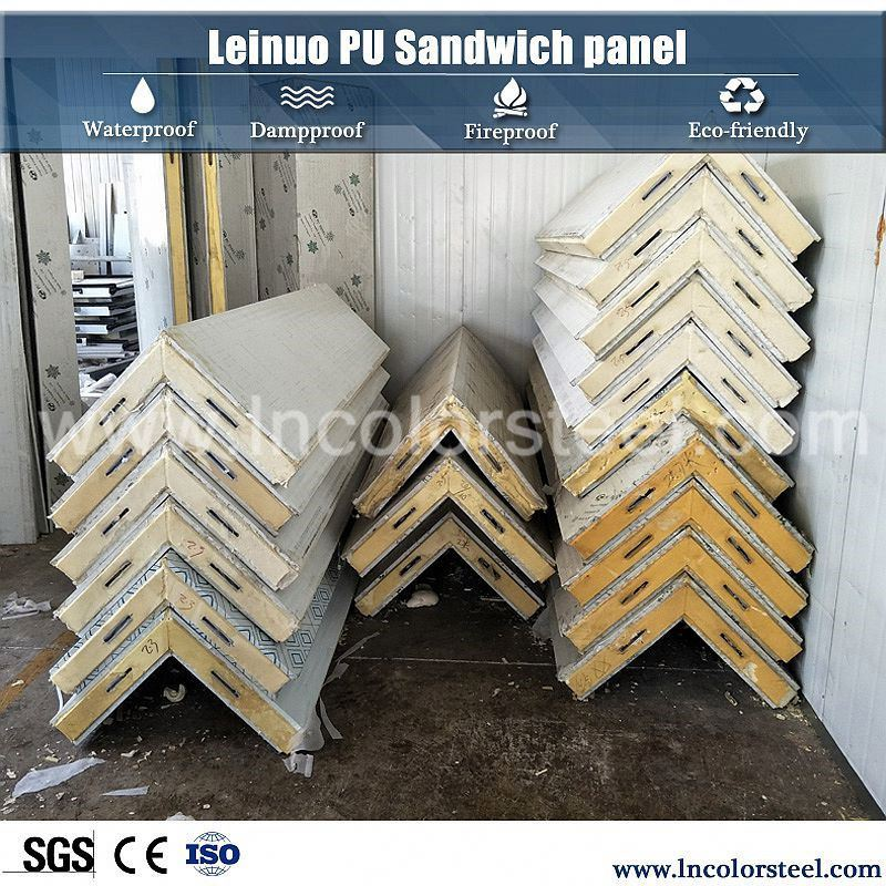 lightweight exterior metal wall panels/fire resistant decorative wall panel/polyurethane sandwich panel
