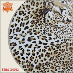 Provide A4 sample for free Leopard printe fabric leather