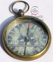Antique Open Face Compass, Nautical Antiques Compass