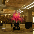 Modern hotel interior hall decorative hand blown pink glass sculpture murano