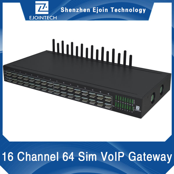 16 ports modem gsm voip gateway with data simulation receive online sms