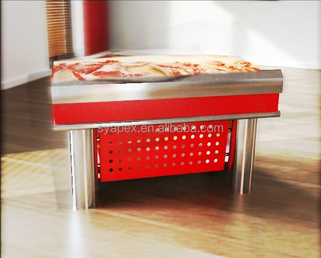 APEX custom make supermarket duck meat cutting table