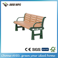 Durable multi-purpose outdoor wood plastic garden bench for sale