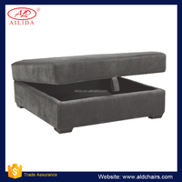 OM-100 Big Comfortable Storage Ottoman With Smooth Fabric