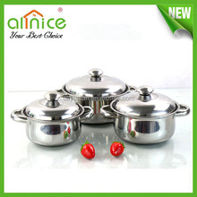 stainless steel kitchen ware/kitchen equipments for restaurants with prices/cooking pot set