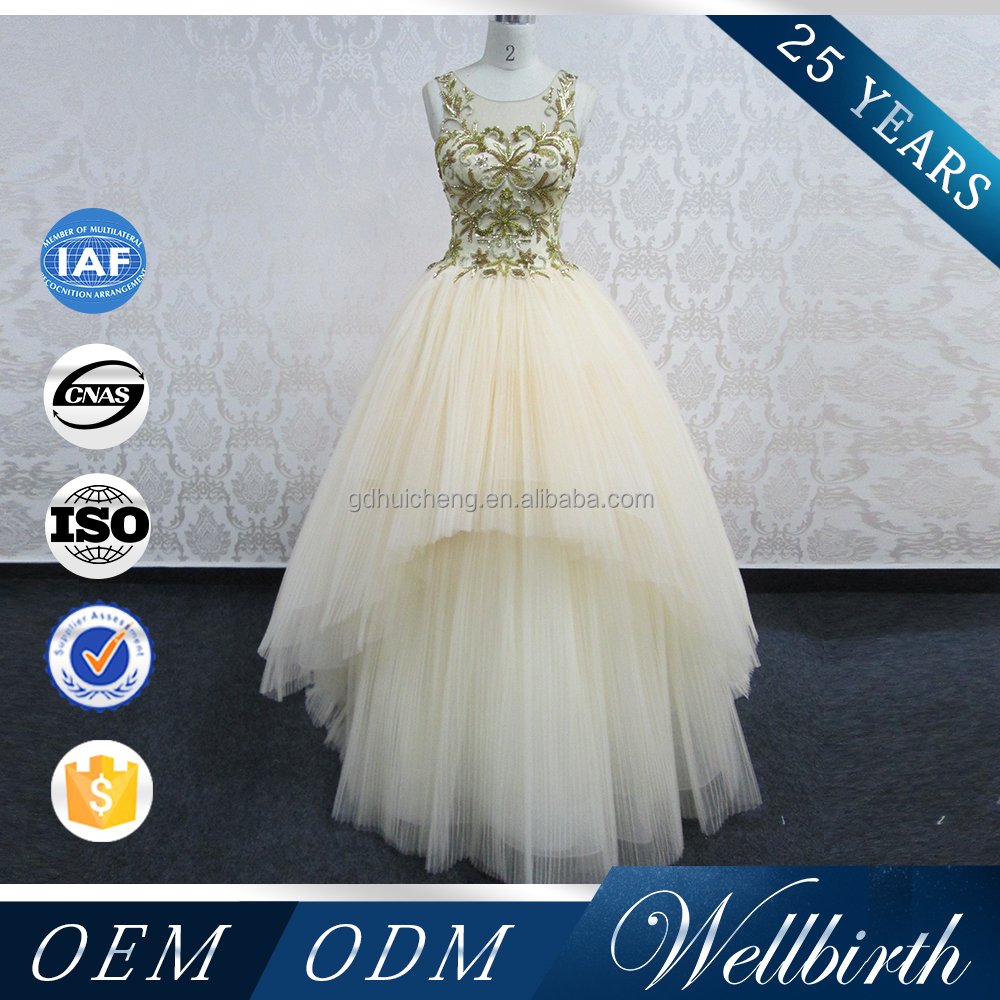 Tailor-made formal women dress handwork bead western style ball gown