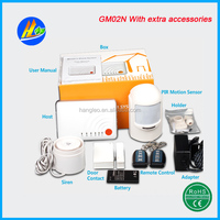 2015 Newest Best-selling tcp/ip home alarm system GM02N with auto dial and voice monitoring
