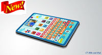 2.7-3.0 inch TFT LCD colored cartoon y pad learning machine which is the most popular kids learning toys for 2013