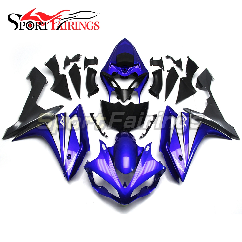 Full Injection <strong>Fairings</strong> For Yamaha YZF <strong>R1</strong> <strong>07</strong> <strong>08</strong> ABS Plastic Injection Motorcycle Kit Body Blue Black Grey