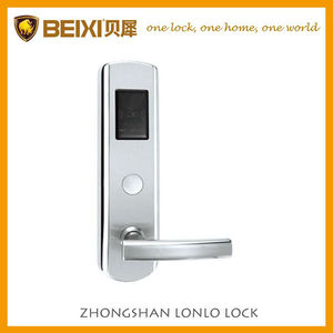 Stainless steel proximity card hotel door lock for rooms