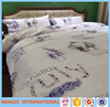 twill king size beautiful digital printed bed sheet