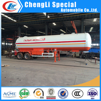 CLW ASME Standard Gas Cylinder Tank in 40CBM LPG Gas SemiTrailer for 20Tons LPG Gas Bullet Tank