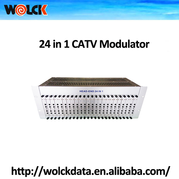 CATV Analog 24 channel in one Fixed Channel RF Modulator
