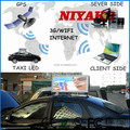 Niyakr Products Car Roof Top Advertising Lighted Signs LED Taxi Advertising Panel