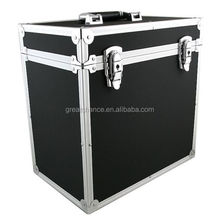 12 Inch Record Flight Case In Black /Silver Holds 50 LP/12""
