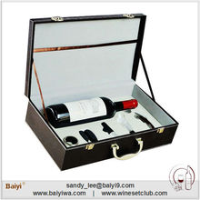 Professional Luxury Leather Wine Packing with Opener