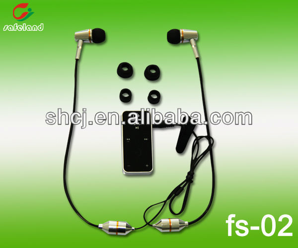 Radiation free stereo Air-tube bluetooth headset for cell phones