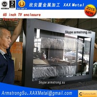 XAX169TVE outdoor out door IP55 IP65 Wall mount interactive signs advertising cabinet enclosure