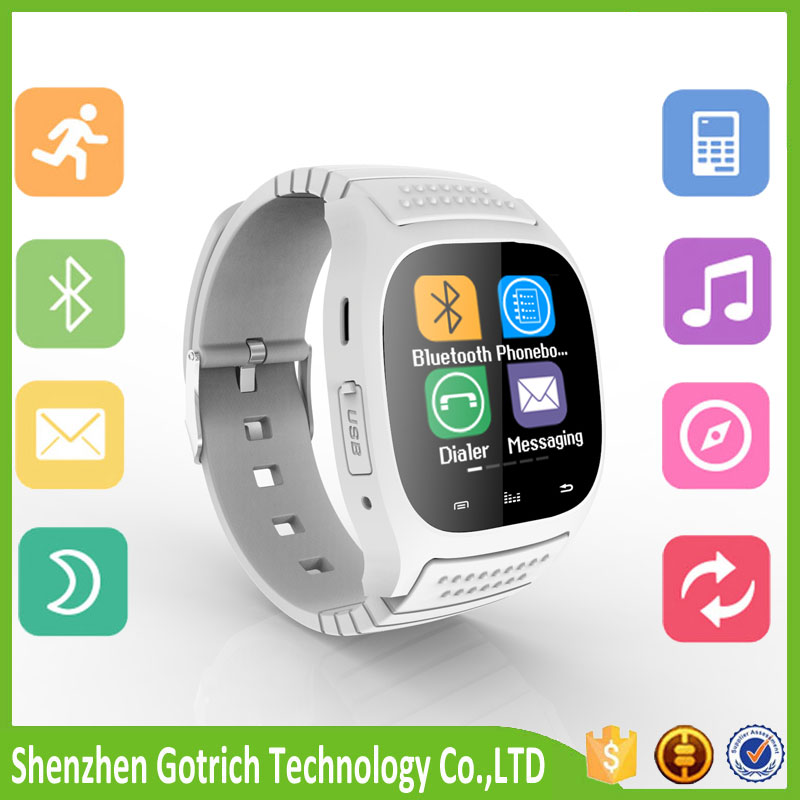 Bluetooth m26 Smart Wrist Watch Fit for Smartphones IOS Apple iphone 4/4S/5/5C/5S Android Samsung S2/S3/S4/Note 2/Note