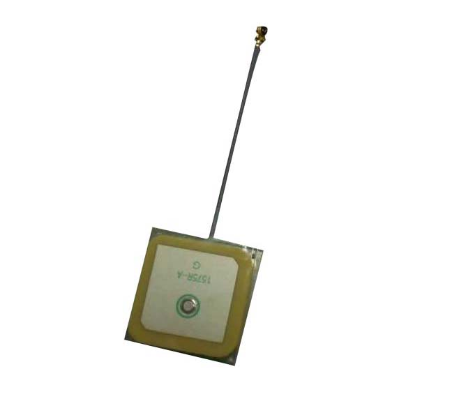 China OEM 25x25x2mm thin built-in Ceramic GPS Antenna with <strong>U</strong>.FL-IPEX connector