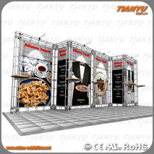 2017simple trade show booth aluminum frame truss exhibition display