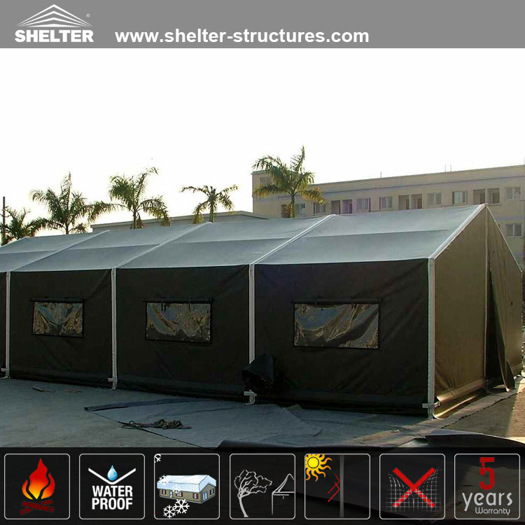 Shelter Green PVC fabric Mobile field hospital army tent for military use