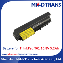 Factory wholesale 6 Cells 10.8V 5200mAh laptop battery for Lenovo ThinkPad R400 R61 T400 T61 series