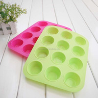 Non-Stick 12 Cups Cupcake silicone cake mold Muffin Pan New Cake Tools Fondant Kitchen Bakeware