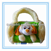 Plush dog shaped bag for children