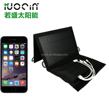 Mini folding solar panel charger for mobile phone